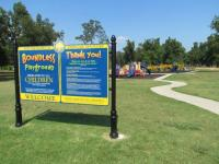 Boundless Playground sign