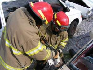 Using jaws of life