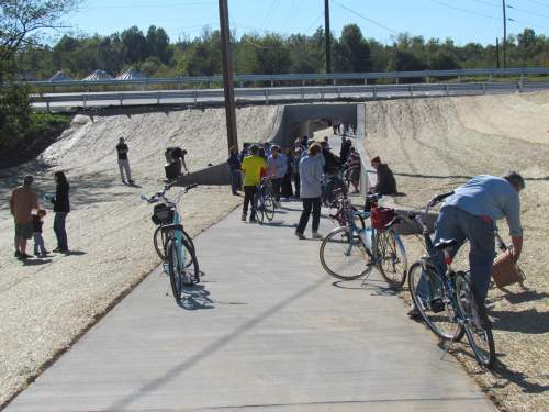 Underpass at ribbon cutting