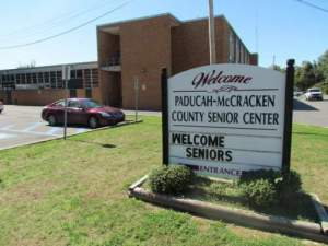 Senior Center Sign and Building